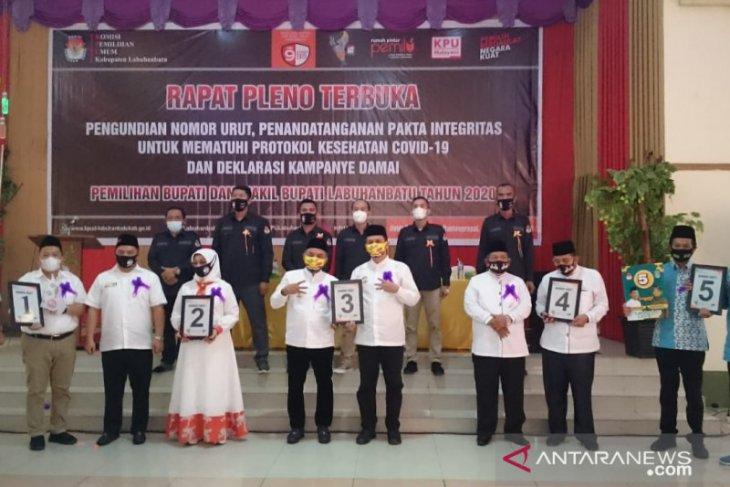 KPU Daerah Labuhanbatu rapat pleno pengundian nomer urut