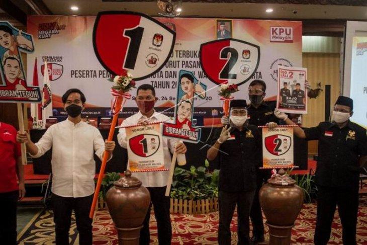 Pengundian nomor urut peserta pilkada Kota Surakarta