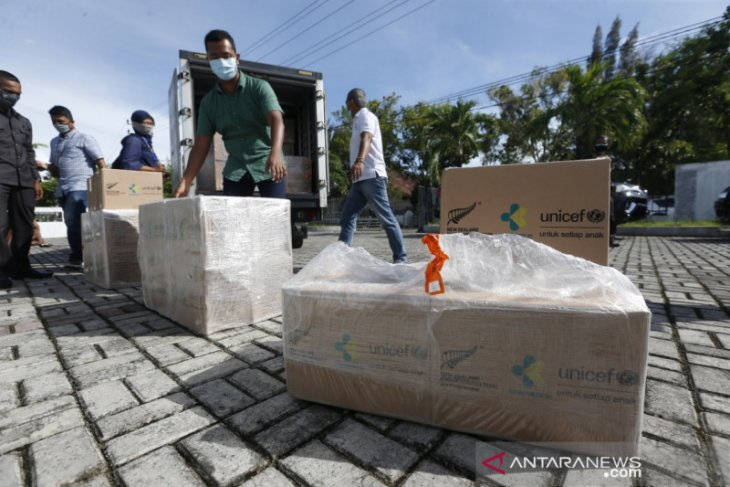 Pemprov Aceh dapat 1.000 alat kebersihan dan disinfeksi dari Unicef