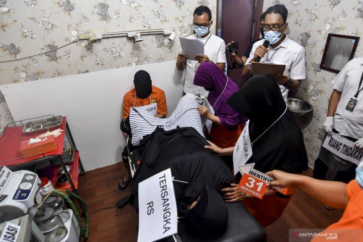 Polisi rampungkan 63 adegan rekonstruksi klinik aborsi ilegal