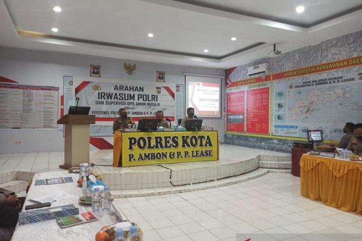 Irwasum Polri  Polresta Ambon jangan duplikasi anggaran anggota
