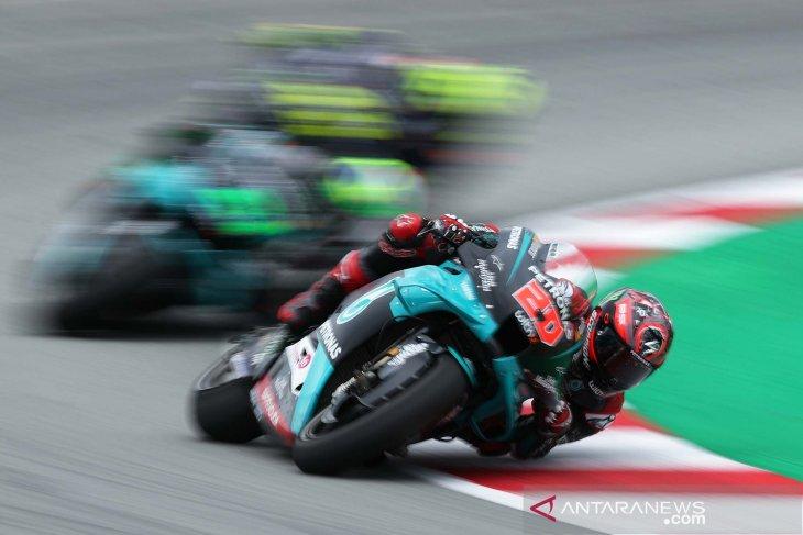 Pebalap tim Petronas Yamaha Quartararo berharap kondisi yang lebih bersahabat di Aragon