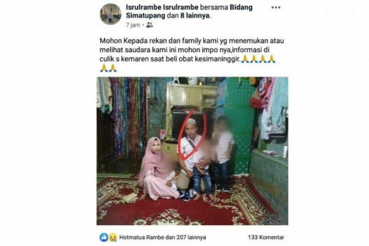 Kerinduan selimuti tiga bocah dibalik hilangnya petugas sensus penduduk di Tapsel