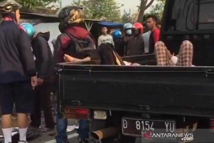 Pengendara Honda tewas ditempat akibat dihantam Yamaha di Cianjur