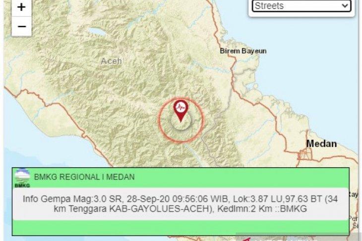 BMKG temukan 22 kali gempa skala kecil di Gayo Lues