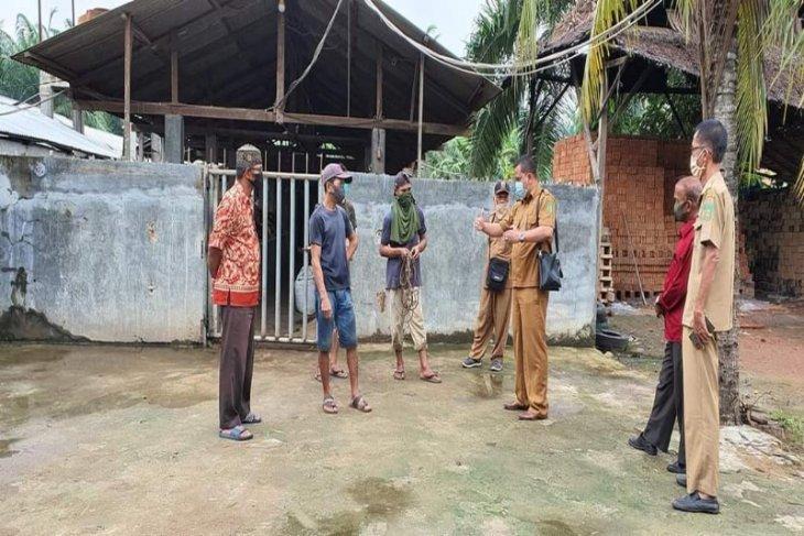 Dusun Sei Mati Ara Condong Stabat Langkat tertutup untuk umum, ditemukan kasus positif COVID-19