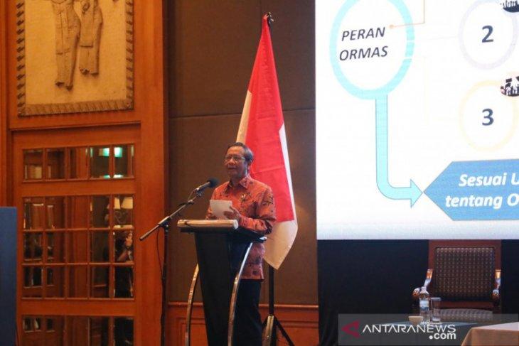 Mahfud minta masyarakat konsisten jaga Indonesia dari kelompok radikal