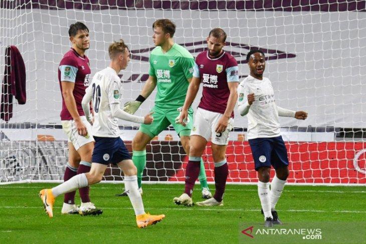 Manchester City kalahkan Burnley untuk ke perempat final Piala Liga