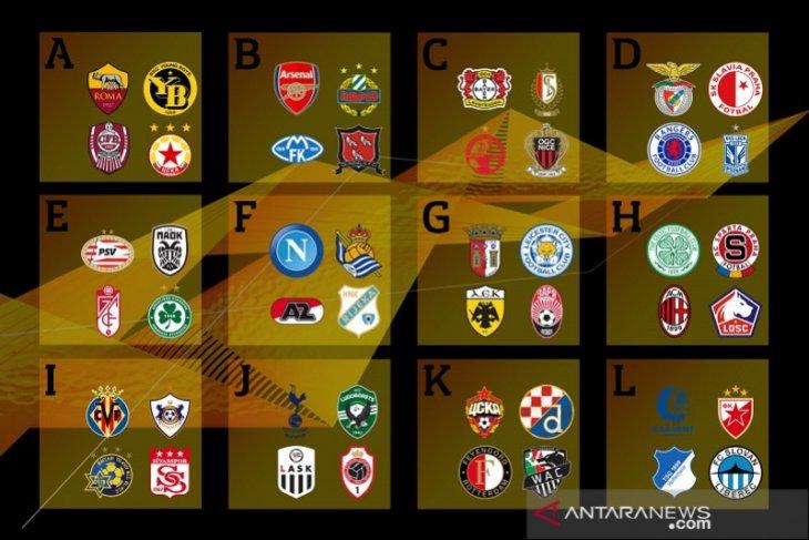 Liga Europa: Hasil undian tempatkan Milan dan Napoli di grup berat
