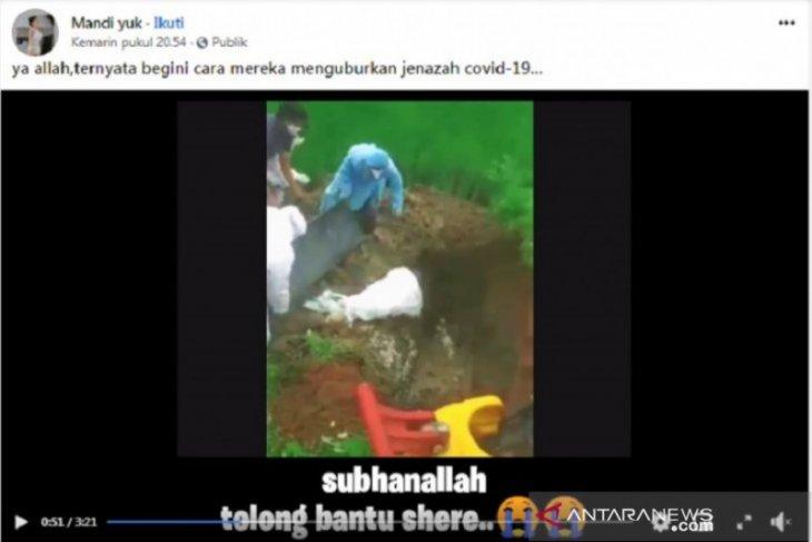 Hoaks, Tim medis Indonesia kuburkan jenazah COVID-19 layaknya binatang
