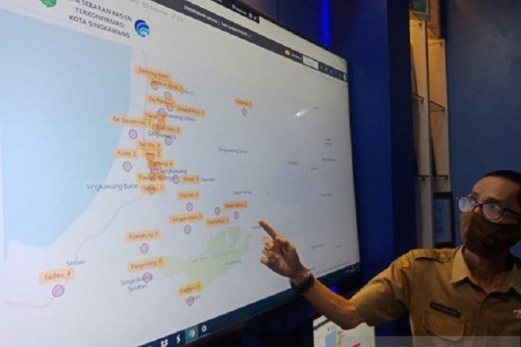 Diskominfo Kota Singkawang membuat peta sebaran pasien COVID-19