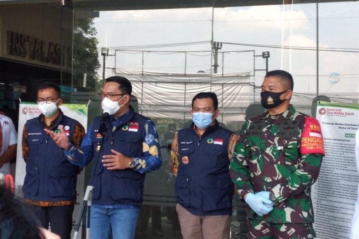 Gubernur Jabar beri bantuan alat kesehatan untuk Kota Depok