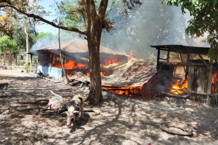 Bentrok di Kabupaten Kupang, satu tewas dan tujuh rumah dibakar