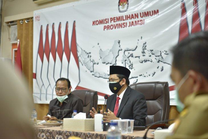 Pjs Gubernur Jambi sambangi KPU bahas penyelenggaraan Pilkada