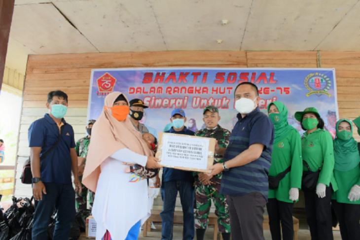 Wabup Effendi bantu korban banjir Sei Mata-Mata