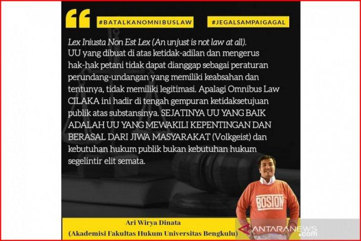 Akademisi Universitas Bengkulu serukan penolakan Omnibus Law