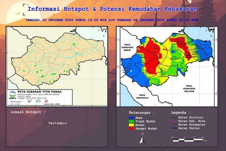 Peta kerawanan dan potensi kemudahan kebakaran di Jambi