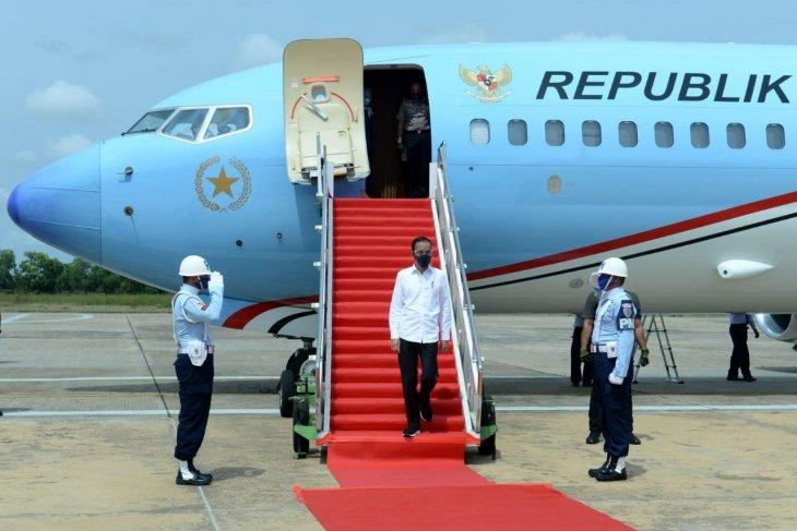 Presiden tinjau lumbung pangan di Kalimantan Tengah