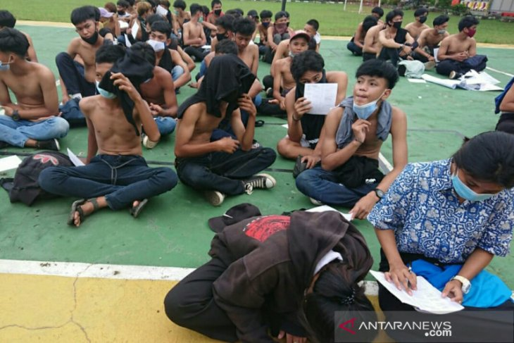 Polisi tangkap 499 orang di Palembang terkait provokasi aksi massa