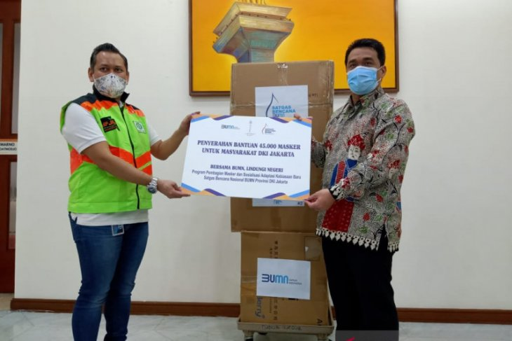 Cegah penyebaran corona, Satgas Bencana Nasional BUMN bagikan 45.000 masker