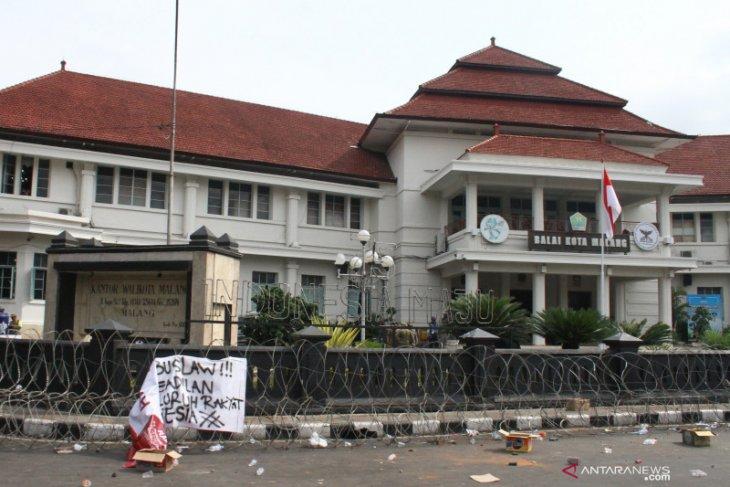 Pemkot Malang data kerusakan akibat demo tolak UU Cipta Kerja