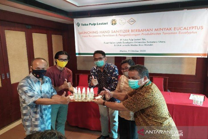 Hand sanitizer eucalyptus produksi Iptek USU dan TPL diluncurkan