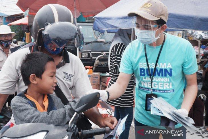 Sosialisasi adaptasi kebiasaan baru, Satgas BUMN Bengkulu bagikan 5.000 masker gratis