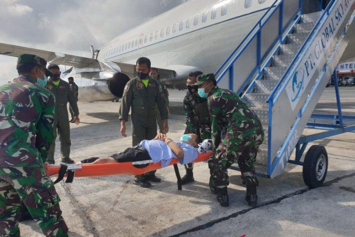 Anggota TGPF Intan Jaya tertembak dievakuasi ke jakarta