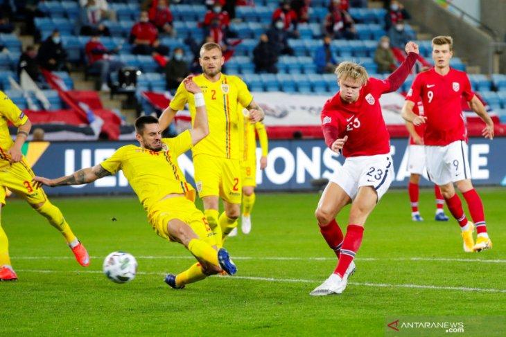 Trigol Haaland warnai kemenangan Norwegia 4-0 atas Romania