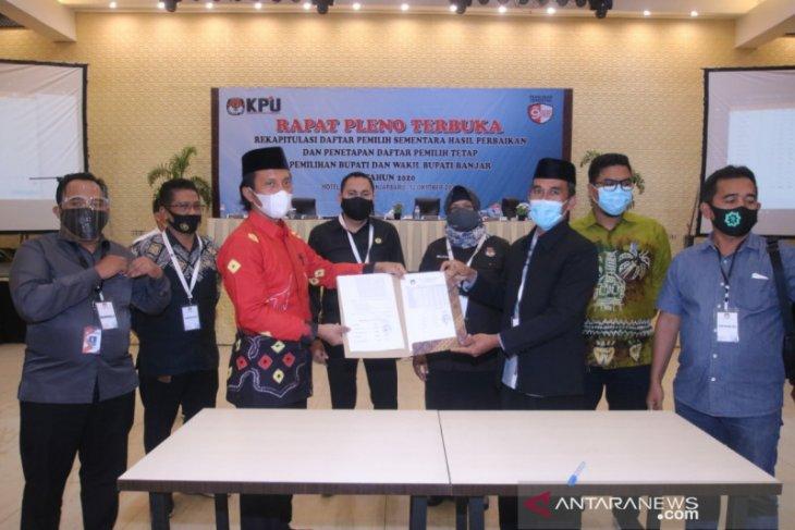 KPU Banjar tetapkan 389.993 DPT Pilkada
