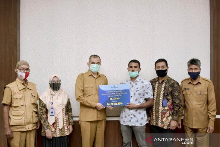 Taspen salurkan bantuan jaminan kematian bagi pegawai non ASN di Sabang