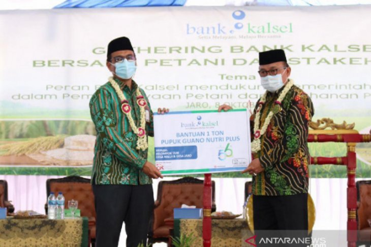Bank Kalsel sinergi dengan petani di Jaro dukung pengembangan sektor pangan