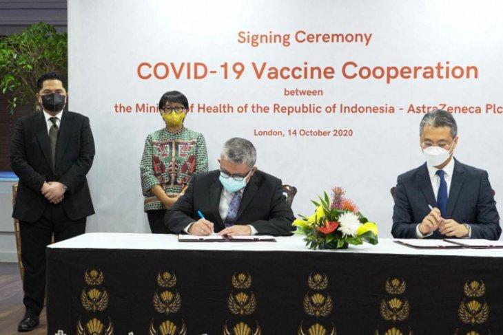Indonesia amankan 100 juta dosis vaksin COVID-19 dari AstraZeneca