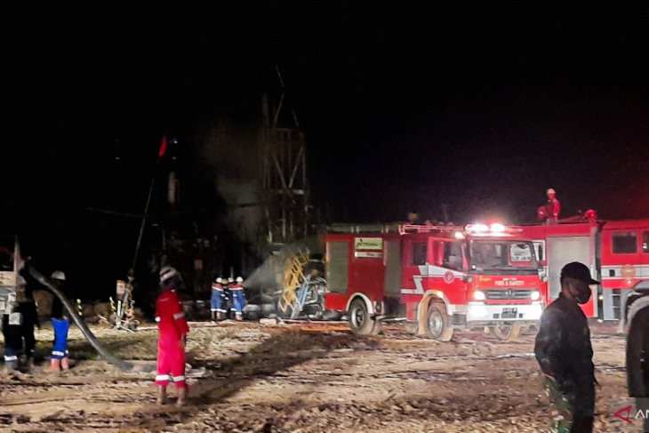 Sumur minyak Pertamina di Lopak Alai Muarojambi terbakar, seorang alami luka