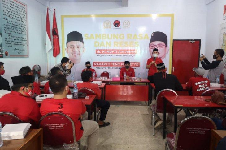 Dukung Teno, Mufti Anam konsolidasi bareng PAC PDIP Kota Pasuruan