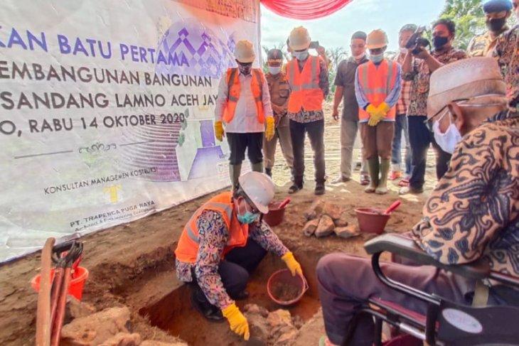 Mesjid Nyak Sandang di Lamno Aceh Jaya mulai dibangun, ini konsep desainnya