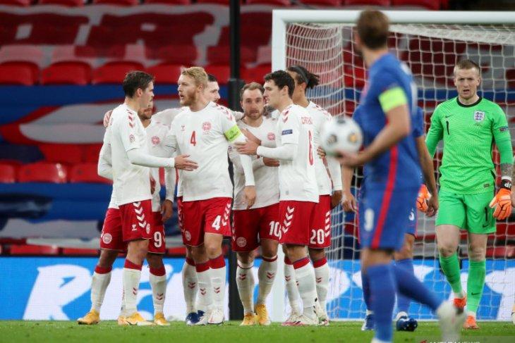 Liga Nasional UEFA, penalti Eriksen bawa Denmark menang 1-0 di markas Inggris