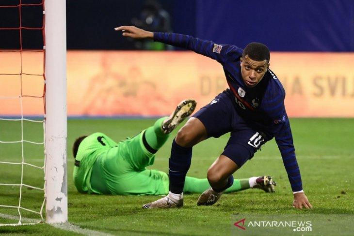 Kylian Mbappe pastikan tim nasional Prancis menang 2-1 atas Kroasia
