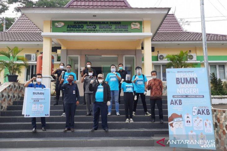 Satgas BUMN Jambi bagikan 5.000 masker di 11 kabupaten dan kota