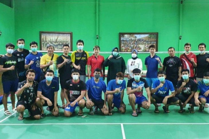 Tim bulu tangkis Indonesia mendapat suntikan semangat dari Bupati Sragen