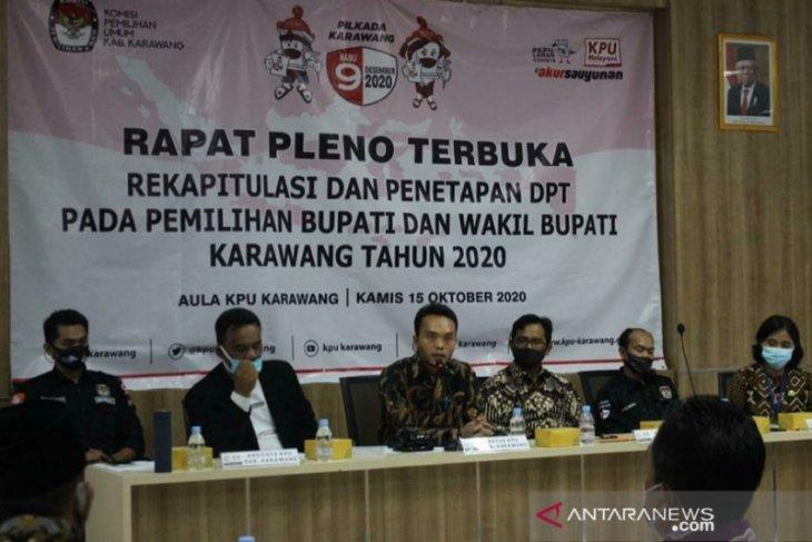 Pemilih Pilkada Karawang 2020  sebanyak 1.643.490 orang