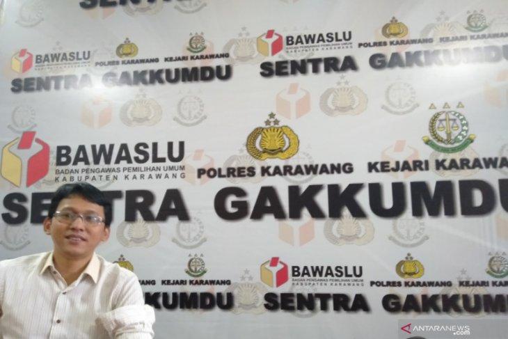 Pasangan calon Pilkada Karawang belum ada yang kampanye secara daring
