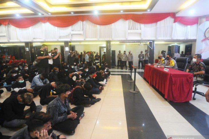 Lima orang dari kelompok penyusup demo di Banjarmasin positif gunakan narkoba