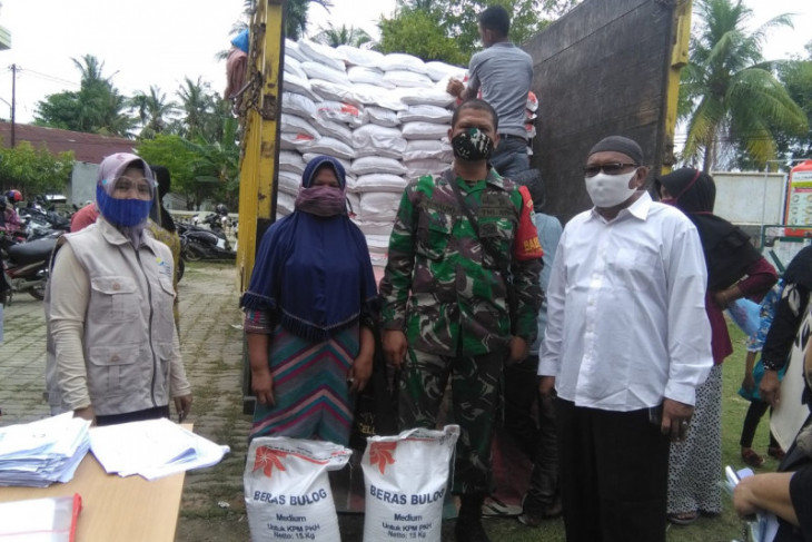 Penyaluran bantuan sosial beras PKH di Lhokseumawe terealisasi 100 persen