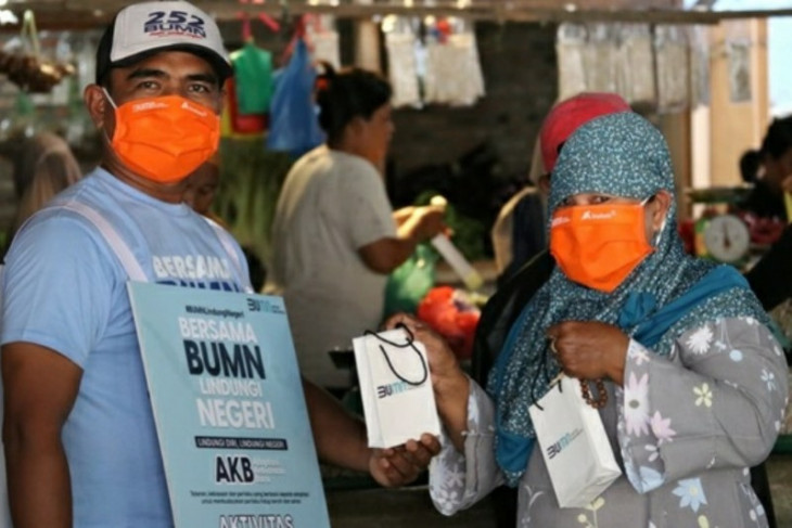 Inalum bagikan 10.000 masker dan  berikan edukasi masyarakat adaptasi kebiasan baru