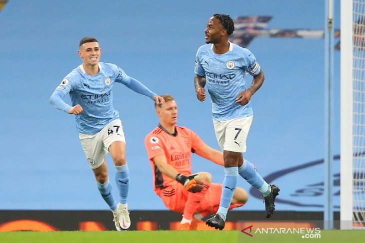 Manchester City menang atas Arsenal, Sterling pembeda