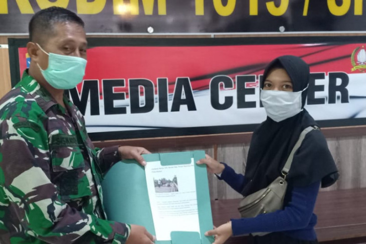 Kodim 1015/Spt, gandeng media sukseskan pelaksanaan TMMD di Pulau Hanaut