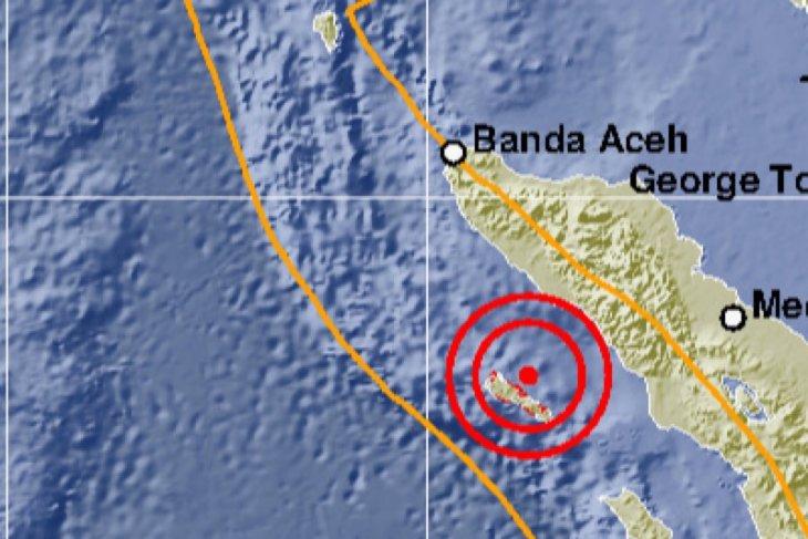 5.4-magnitude quake strikes Aceh's Simeulue district