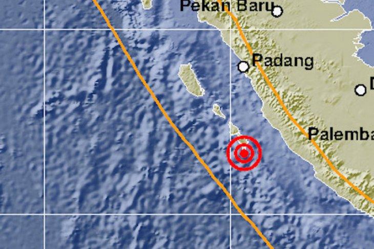 Gempa magnitudo 5,7 guncang Mentawai yang tidak berpotensi tsunami