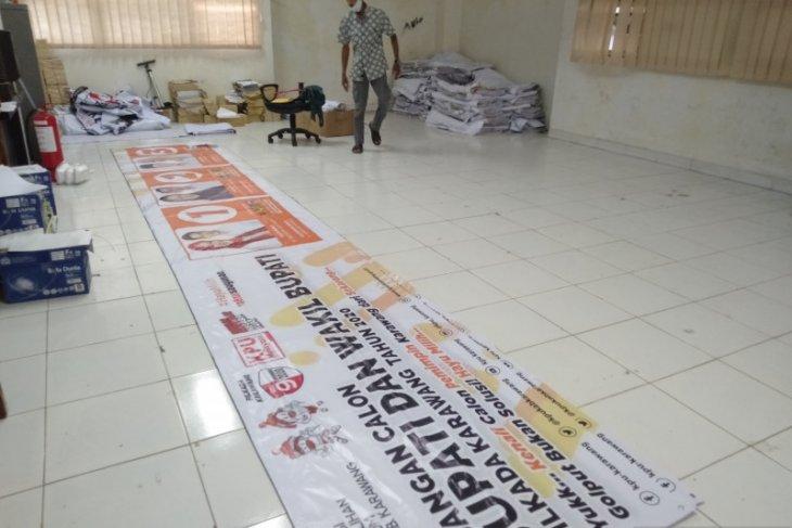 KPU Karawang siapkan puluhan ribu bahan dan alat peraga kampanye